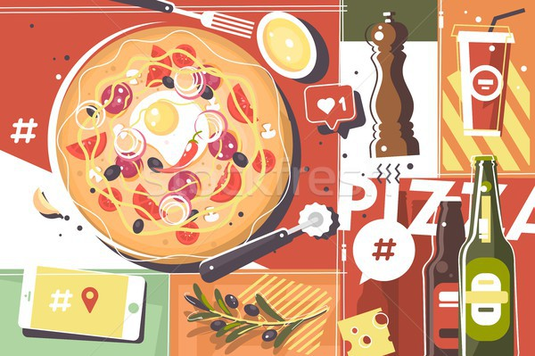 Pizza abstract background Stock photo © jossdiim