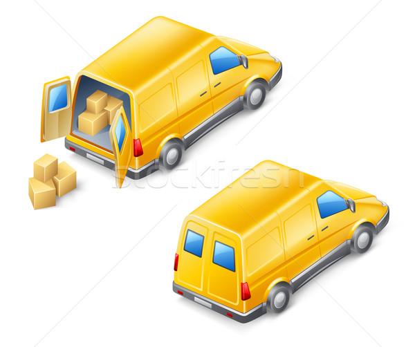 Kisteherautó fehér üzlet háttér szín ablakok Stock fotó © jossdiim