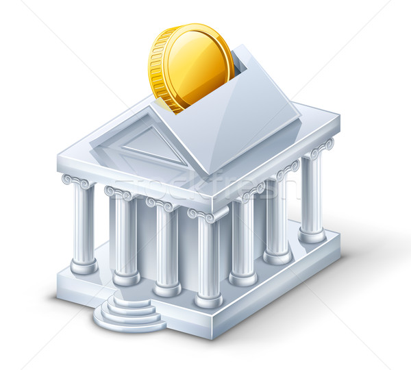 Bank building — moneybox Stock photo © jossdiim