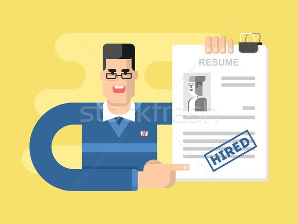 önéletrajz foglalkoztatás toborzás karrier állás irat Stock fotó © jossdiim