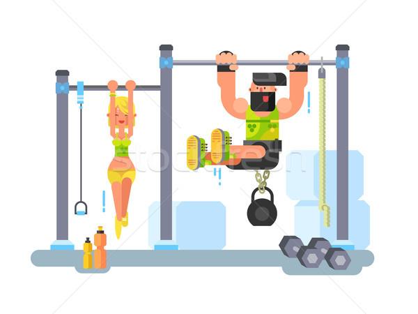 Man and woman fitness Stock photo © jossdiim