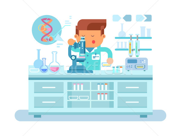 Genetics doctor during work at laboratory Stock photo © jossdiim