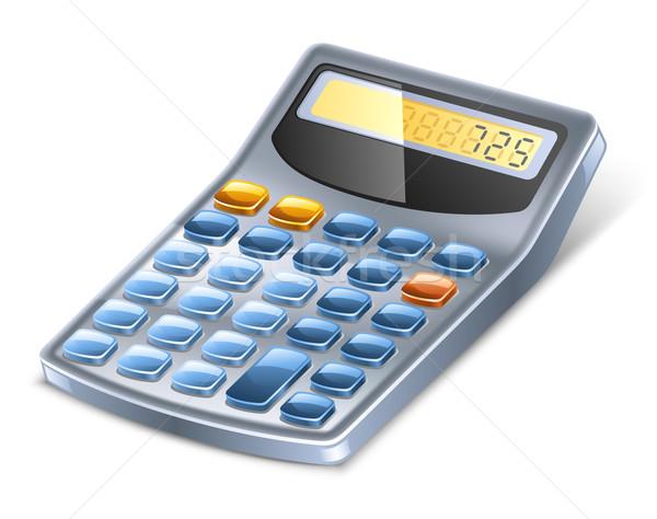 Calculadora blanco teclado azul negro color Foto stock © jossdiim