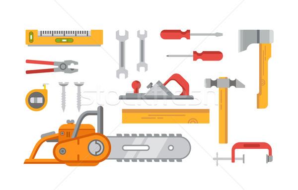 Construction Tools Objects Stock photo © jossdiim