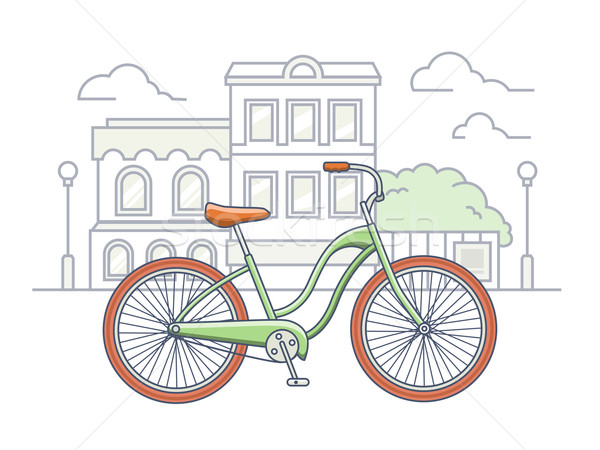 Bicicletta strada illustrazione bike trasporto veicolo Foto d'archivio © jossdiim