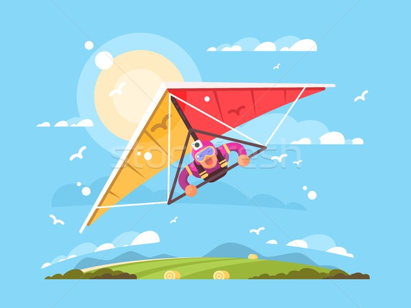 Man on a hang glider Stock photo © jossdiim
