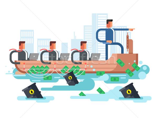 リーダー 会社 ビジネス 船 人 チーム ストックフォト © jossdiim
