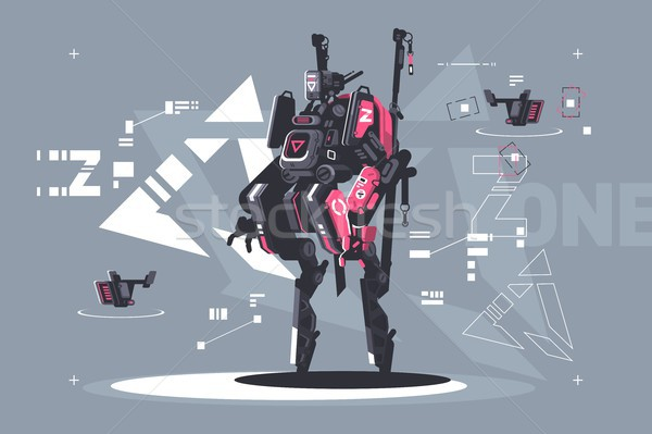 Robot drone mechanized and automated Stock photo © jossdiim