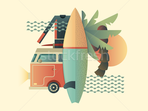 Surfing design concept Stock photo © jossdiim