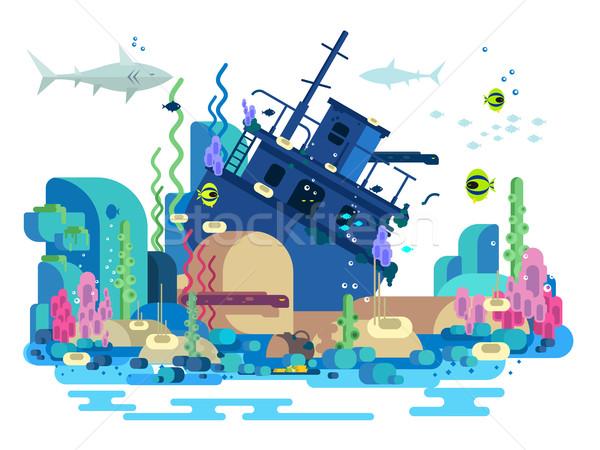 Sunken ship under water Stock photo © jossdiim