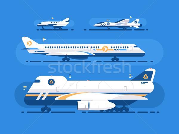航空機 セット 貨物 軍事 デザイン にログイン ストックフォト © jossdiim