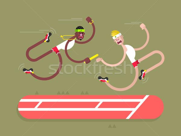 陸上 デザイン 競争 ランナー アクション スプリント ストックフォト © jossdiim