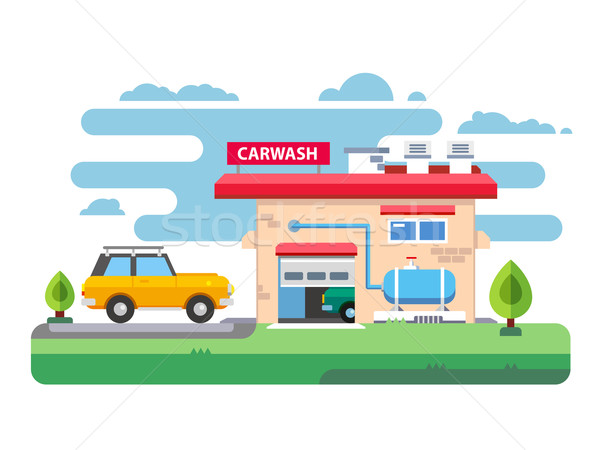 Car wash station dienst auto schone garage Stockfoto © jossdiim