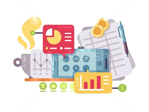 Iş istihbarat analiz istatistik grafikler Stok fotoğraf © jossdiim
