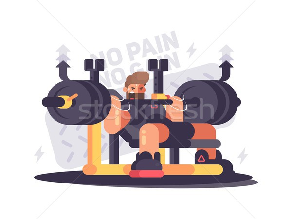 Powerlifting athlete in competitions Stock photo © jossdiim