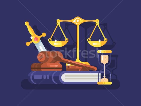 Giudice legge giuridica giustizia martelletto legislazione Foto d'archivio © jossdiim
