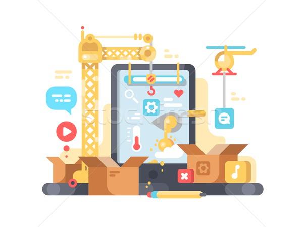 Schepping ontwikkeling app web design programmering telefoon Stockfoto © jossdiim