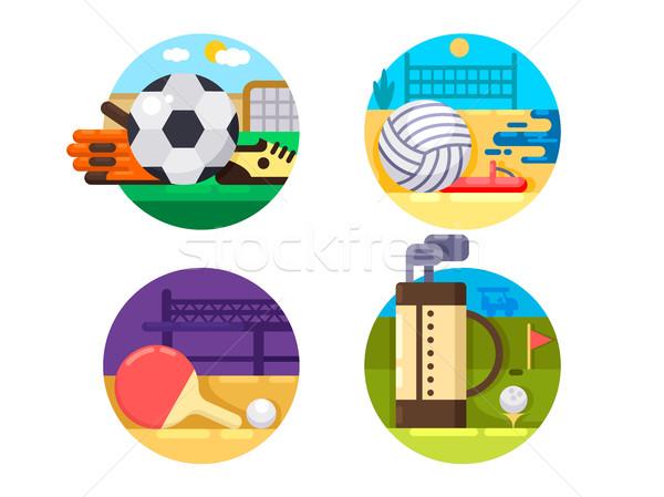 Stockfoto: Collectie · iconen · sport · bal · games · voetbal