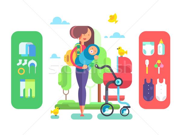Mother and baby Stock photo © jossdiim