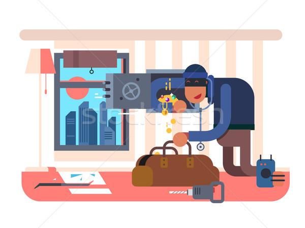Burglar in the apartment Stock photo © jossdiim
