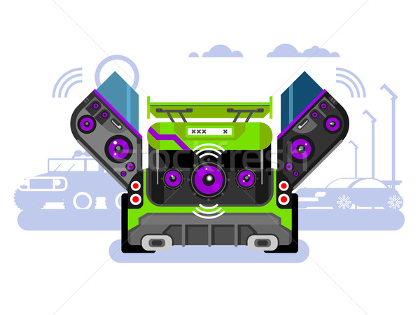 Car audio system Stock photo © jossdiim