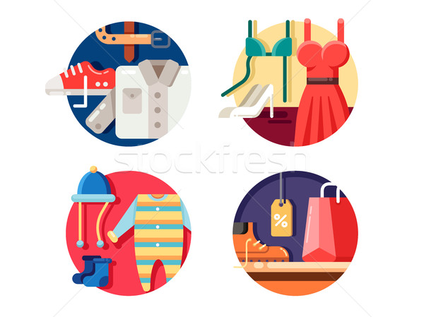 Man woman and childrens clothing. Stock photo © jossdiim