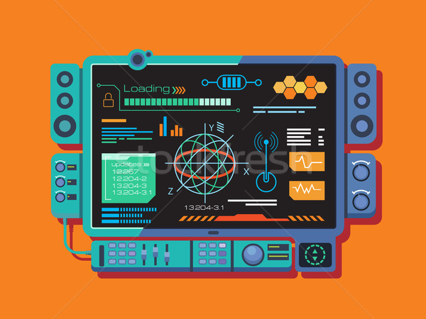 Abstract control panel with a variety of data Stock photo © jossdiim