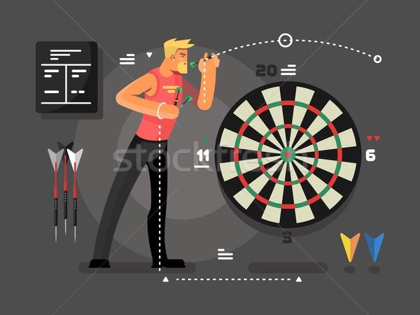 男 演奏 ダーツ スポーツ ターゲット ストックフォト © jossdiim