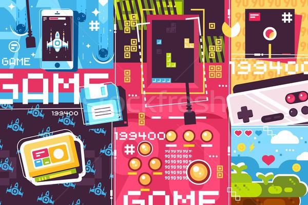 Video game abstract background Stock photo © jossdiim