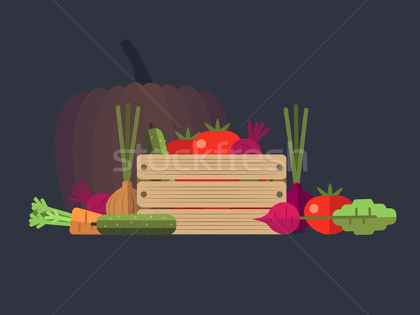 Vegetables farm flat design Stock photo © jossdiim