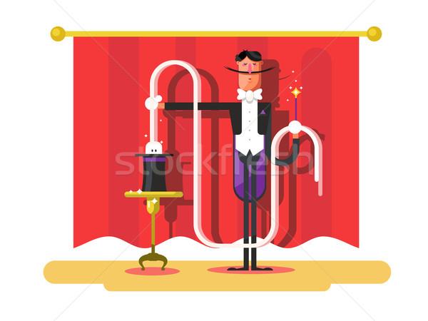 Cirkusz mágikus előadás illuzionista trükk szórakoztatás Stock fotó © jossdiim