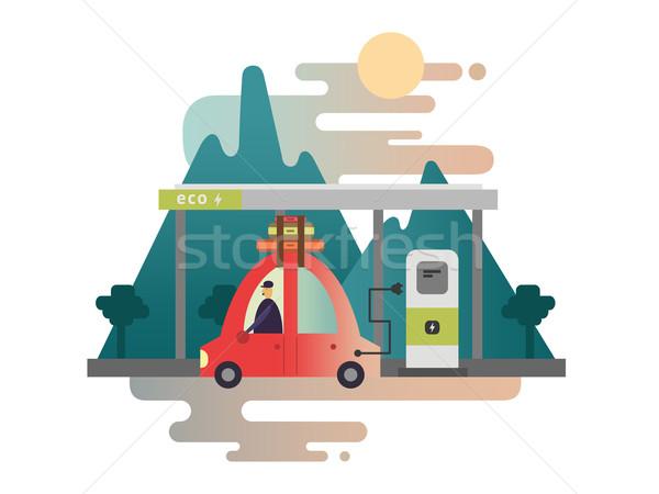 Voiture électrique design énergie véhicule transport pouvoir Photo stock © jossdiim