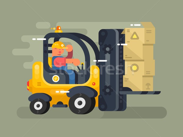 Storekeeper loader flat design Stock photo © jossdiim