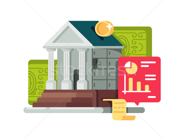 Bank and banking finance icon Stock photo © jossdiim