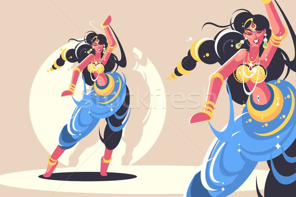 Stock photo: Indian girls dance