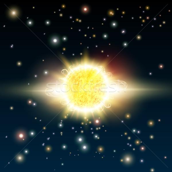 Stockfoto: Vector · zon · illustratie · ruimte · hemel