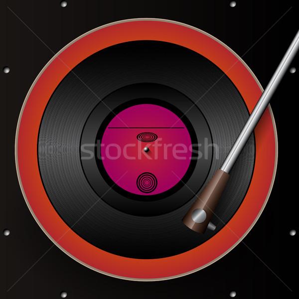 Retro gramophone and Vinyl Background Stock photo © Jugulator