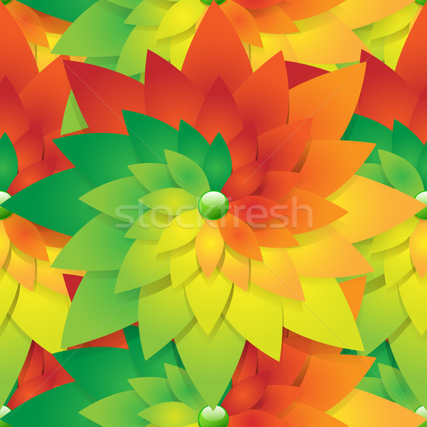 Abstract naadloos seizoen bloem vector bloem illustratie Stockfoto © Jugulator