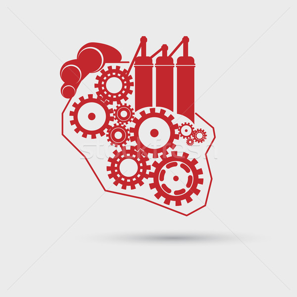 Abstract heart concept with gears and engine Stock photo © Jugulator