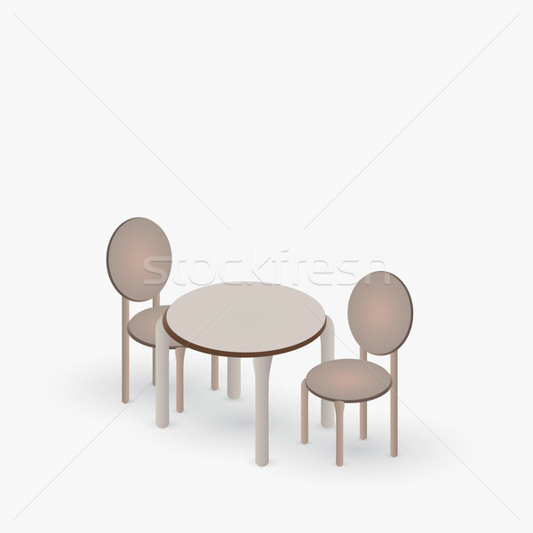 Table with a pair of chairs Stock photo © Jugulator