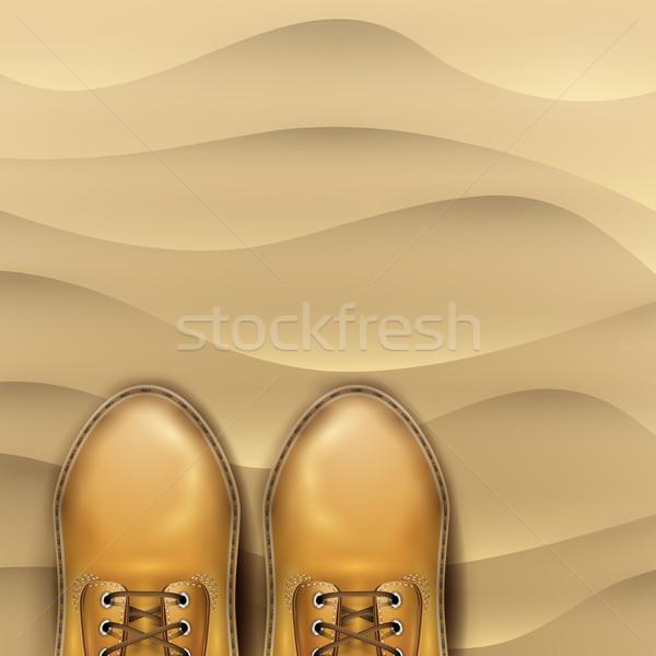 песчаный пляж сапогах вектора иллюстрация природы Сток-фото © Jugulator