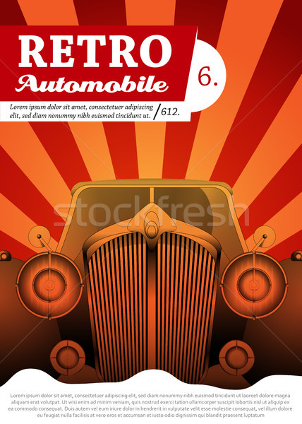 Retro car background design Stock photo © Jugulator
