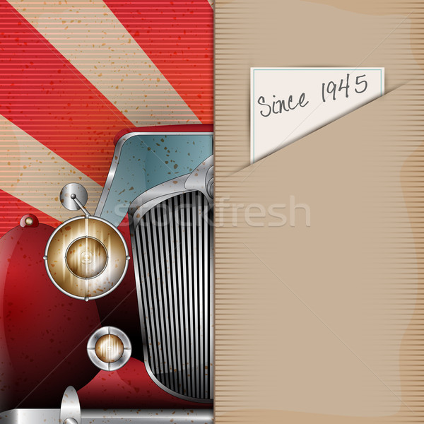 Retro Party brochure with vintage car Stock photo © Jugulator