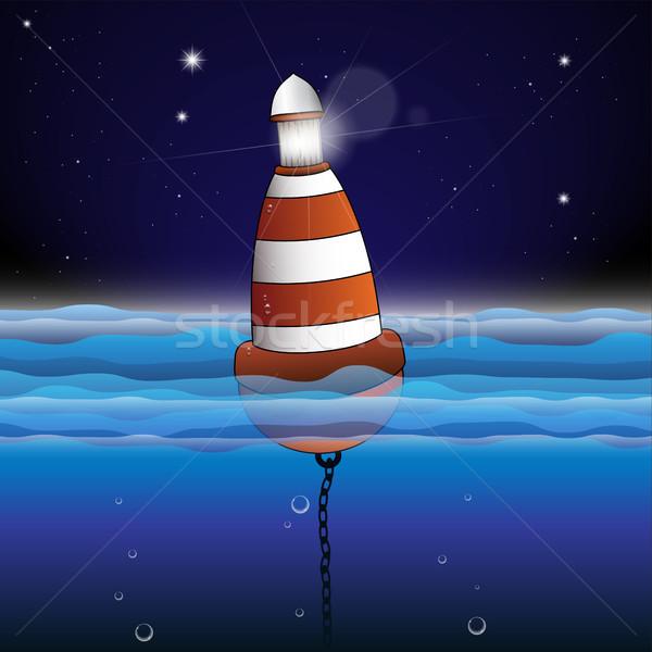 Boa illustrazione acqua sfondo Ocean Foto d'archivio © Jugulator