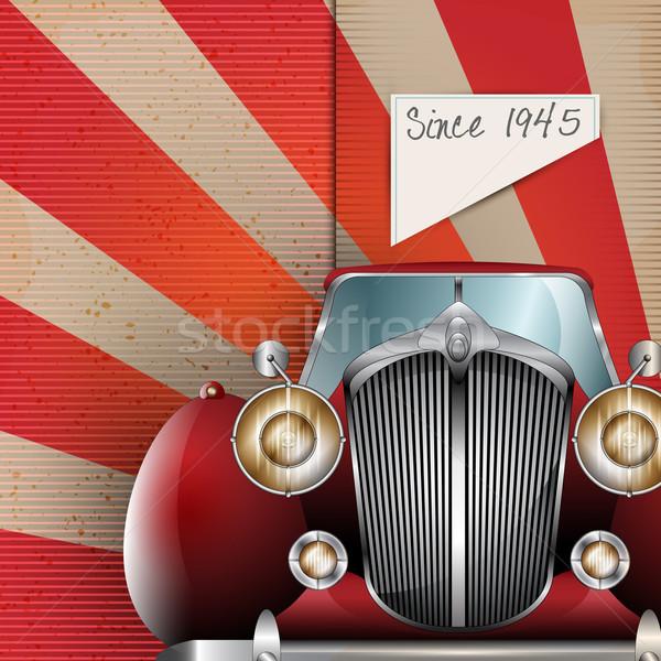 Retro Party brochure with vintage car Stock photo © Jugulator