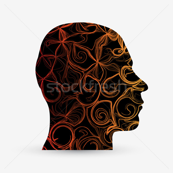 Abstract hoofd vector illustratie business gezicht Stockfoto © Jugulator
