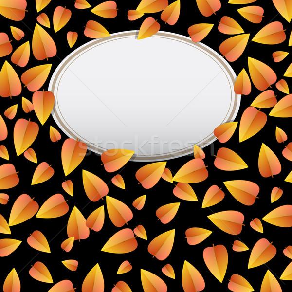Foto stock: Outono · ilustração · vetor · textura · floresta · abstrato