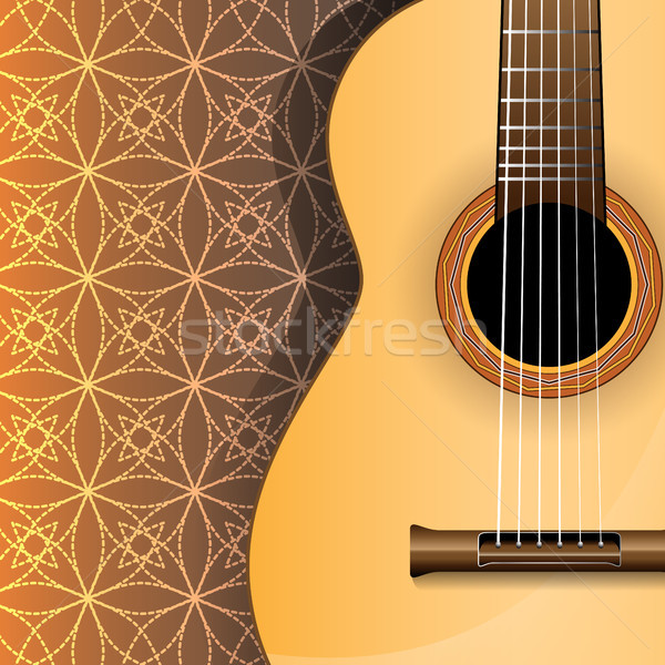 Absztrakt zene gitár vektor illusztráció háttér Stock fotó © Jugulator