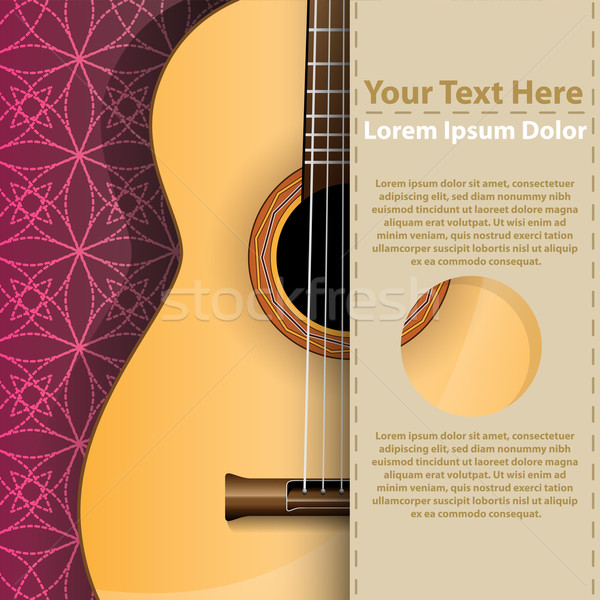 Abstract music background with guitar and copy-space Stock photo © Jugulator