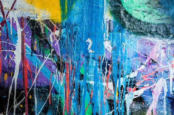 Pintura graffiti pared resumen urbanas patrón Foto stock © Juhku